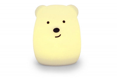 Силіконовий нічник Click Ведмідь нічні звірята дитячий 11 см SKL17-223469