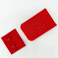 Подовжувач для бюстгальтера 2 гачка. Застібка бюстгальтера. Колір червоний (5шт)