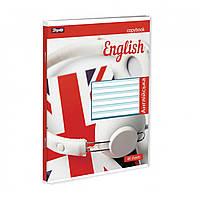 Предметная тетрадь 48 листов 1 Вересня Английский язык (Style),линия 764062