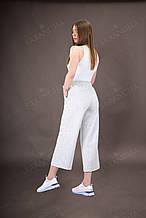 Кюллоты брюки женские летние светло-серого цвета