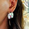 Срібні сережки кільця широкі - Широкі сережки конго срібло - Сережки без каменів срібні, фото 4