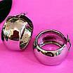 Срібні сережки кільця широкі - Широкі сережки конго срібло - Сережки без каменів срібні, фото 2