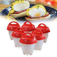 Силіконові формочки для варіння яєць без шкаралупи набір з 6 штук Egg Boiler, фото 1
