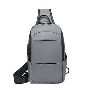 Барсетка сумка USB слинг на грудь нейлон ткань для через плечо Унисекс ОПТ
