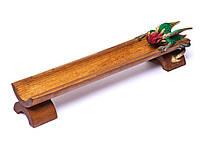 Подставка лыжа для благовоний деревянная Дракон длина 25см