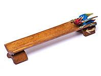 Подставка для благовоний лыжа деревянная Дракон длина 25см