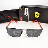 Ray Ban Scuderia Ferrari Carbon Rb3617 Чоловічі сонцезахисні окуляри для водія Рей Бан поляризація Топ, фото 8
