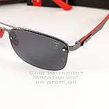 Чоловічі сонцезахисні окуляри Ray Ban Ferrari Rb3617 Scuderia Carbon Рей Бан поляризація Топ репліка, фото 4