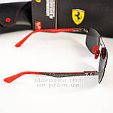 Мужские солнцезащитные очки Ray Ban Ferrari Rb3617 Scuderia Carbon Рей Бан поляризация Топ реплика, фото 2