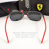 Мужские солнцезащитные очки Ray Ban Ferrari Rb3617 Scuderia Carbon Рей Бан поляризация Топ реплика, фото 7