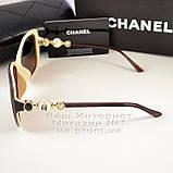 Женские солнцезащитные очки Chanel с поляризацией для водителя Коричневые модные Брендовые Шанель копия, фото 3