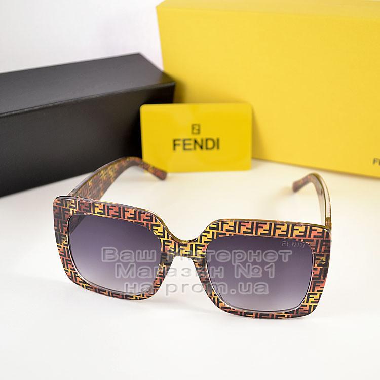 Квадратні жіночі сонцезахисні окуляри Fendi модні Брендові Стильні модна новинка 2021 Фенді репліка