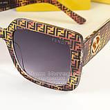 Квадратні жіночі сонцезахисні окуляри Fendi модні Брендові Стильні модна новинка 2021 Фенді репліка, фото 2