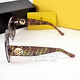 Квадратні жіночі сонцезахисні окуляри Fendi модні Брендові Стильні модна новинка 2021 Фенді репліка, фото 3