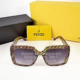 Квадратні жіночі сонцезахисні окуляри Fendi модні Брендові Стильні модна новинка 2021 Фенді репліка, фото 4