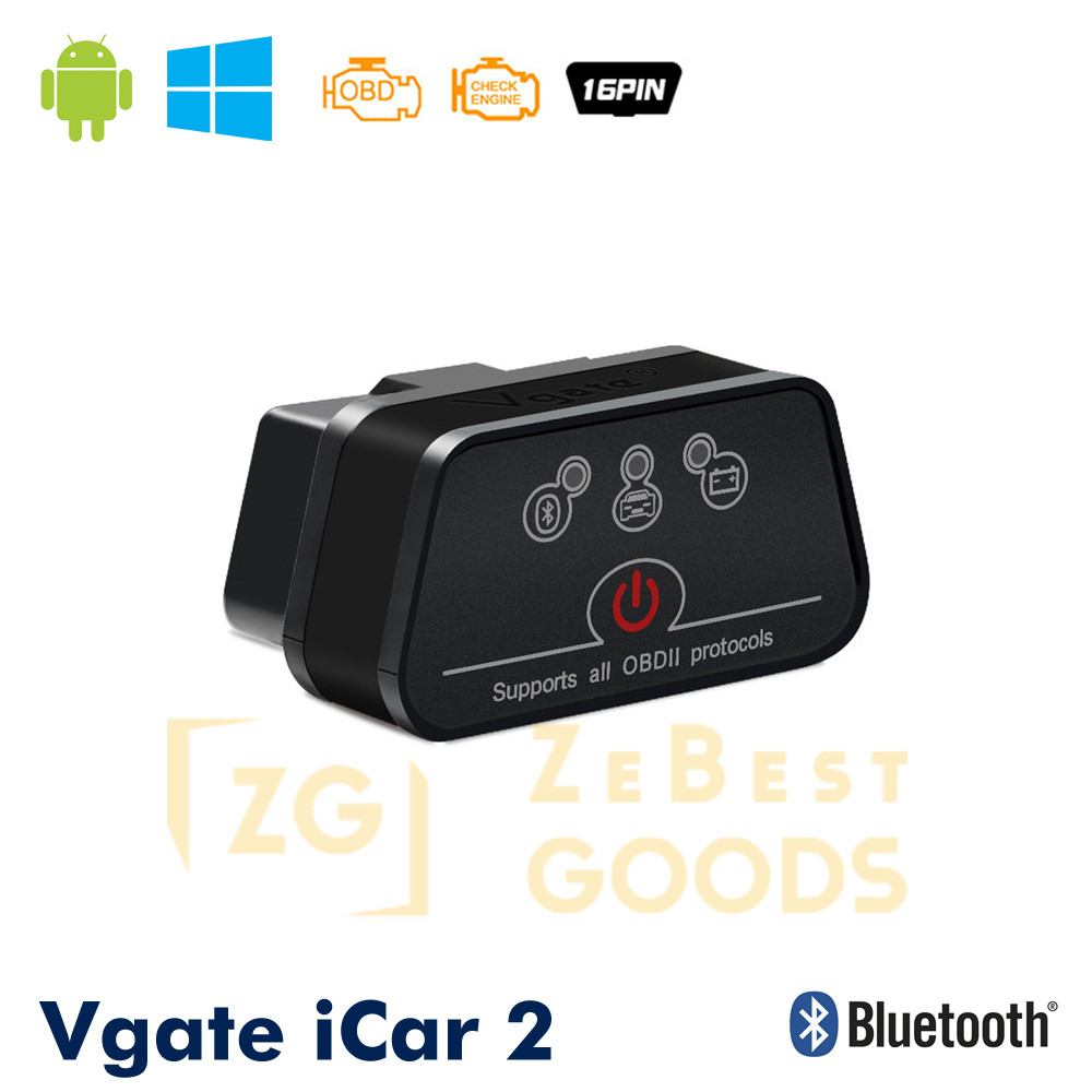 Автосканер Vgate iCar2 OBD 2 ELM327 OBD2 Bluetooth 3.0 (чорний)