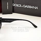Женские узкие солнцезащитные очки Dolce & Gabbana Брендовые модная новинка 2021 Дольче Габбана реплика, фото 4