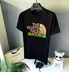 Чоловіча футболка, люкс The North Face Gucci