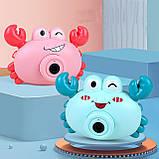 Фотоаппарат детский для создания мыльных пузырей Bubble Camera крабик Пузырятор, фото 2