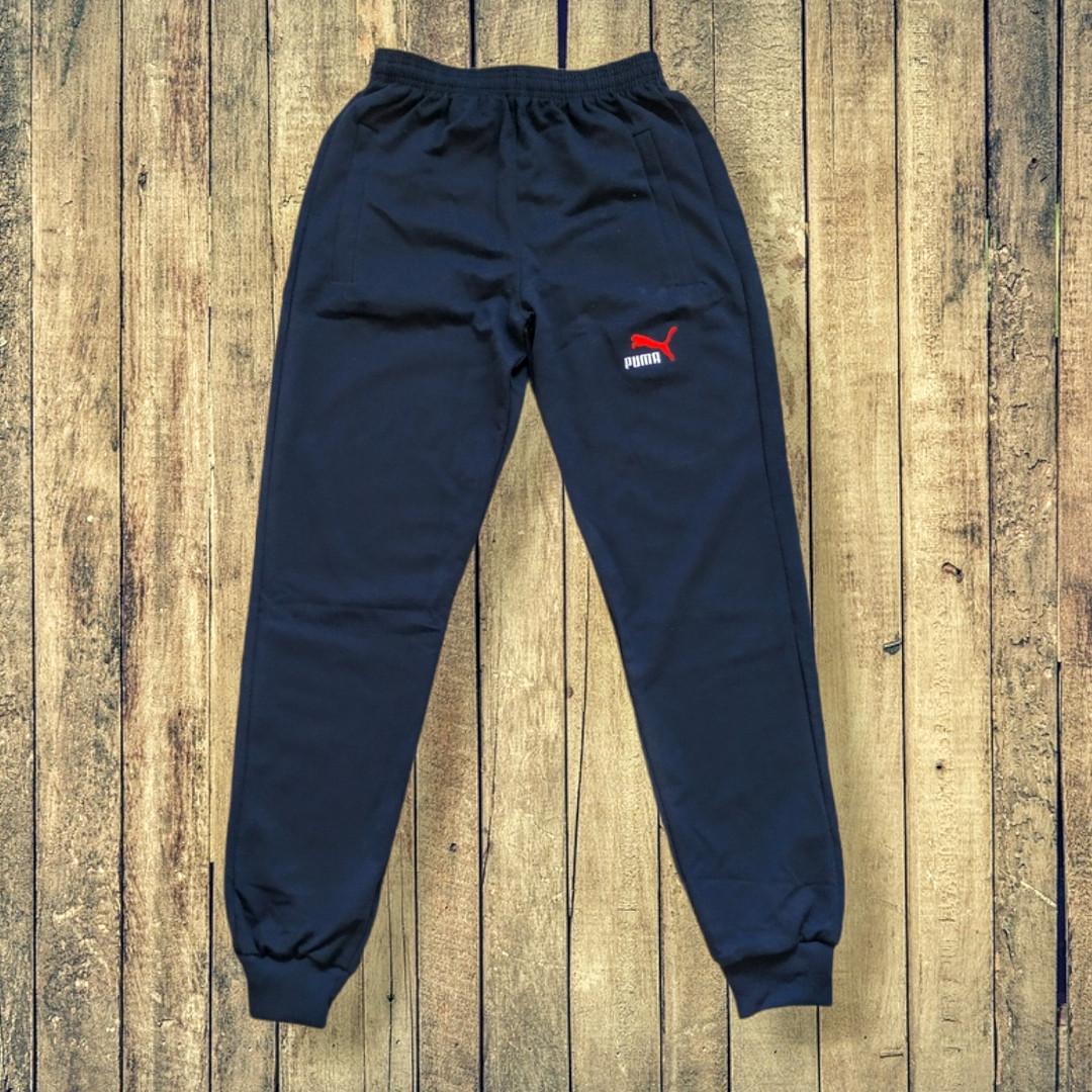 Штаны спортивные мужские с манжетами темно-синие 46 размер Турецкий трикотаж двунитка