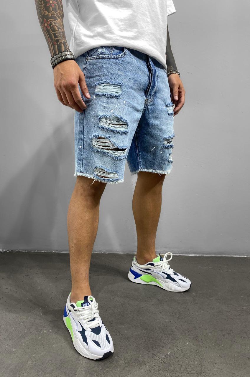 Сині чоловічі джинсові шорти