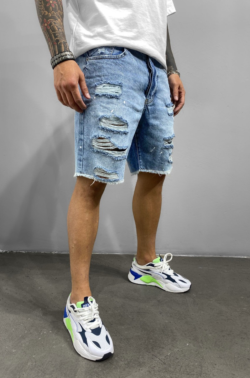 Синие мужские джинсовые шорты