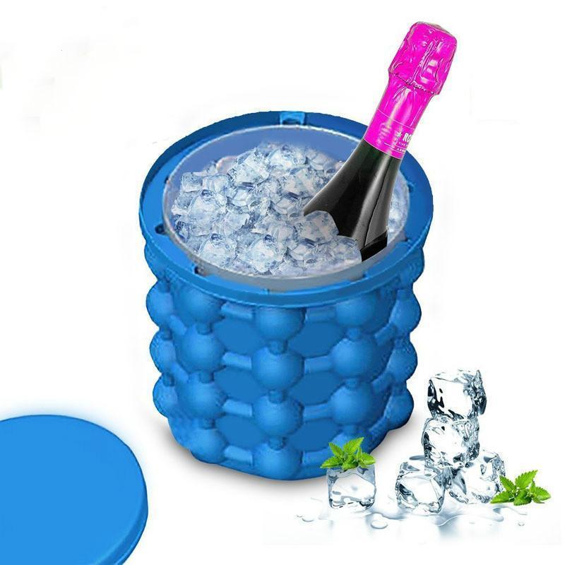 Силіконова форма для заморозки льоду Ice Cube Maker Айс куб міні відро для заморозки льоду