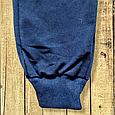 Штани спортивні чоловічі з манжетами темно-сині 52 розмір Турецький трикотаж двунітка, фото 3