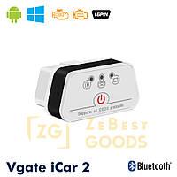 Автосканер Vgate iCar2 OBD 2 ELM327 OBD2 Bluetooth 3.0 (білий/чорний), фото 1