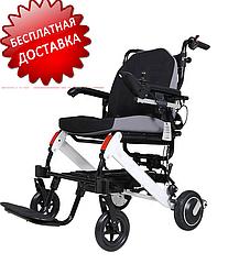 Легкая складная алюминиевая электроколяска для инвалидов D-6033. Инвалидная коляска.