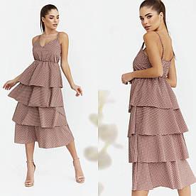 Женское платье. Ткань :софт. Цвет: белый, чёрный, бежевый, красный, горчица