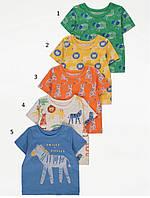 Яскраві футболки для хлопчика з тваринним принтом Джордж (поштучно), фото 1