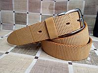 Ремень кожаный коричневый