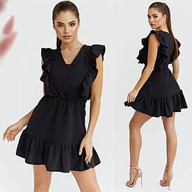 Женское платье. Размер:42-44,46-48,50-52. Ткань :софт Цвет:чёрный, красный,голубой, оливка.