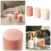 Набор ароматических свечей 3 шт IKEA BLOMDOFT 10 см х 30 часов горения декоративные цветочные ИКЕА БЛОМДОРФ