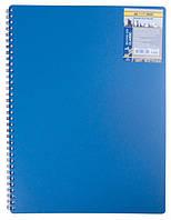 Зошит А4 Classic бічна спіраль 40 л, сірий, синій
