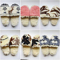 Мужские и женские Тапочки из овчины на микропористой подошве, 36-46