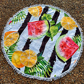 Полотенце-коврик пляжное круглое (Арт. TP312/6)