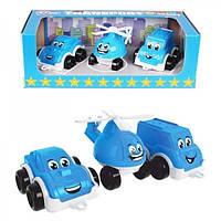 Набір іграшковий Транспорт Міні, блакитний, пластик в коробці тм ТехноК