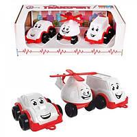 Набір іграшковий Транспорт Міні, білий, пластик в коробці тм ТехноК