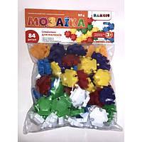 Дитяча різнобарвна Мозаїка №4, 84 деталей тм Bamsic