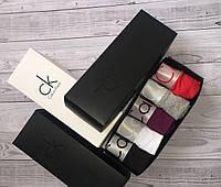 Подарочный набор мужского белья Calvin Klein Steel 5шт (Cotton) Боксеры трусы шорты кельвин кляйн