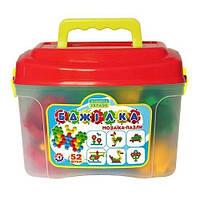 Игрушка мозайка-пазлы Бджілка, 52 элементов, 6 см фишка, в чемодане тм ТехноК