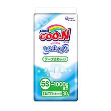 Підгузники GOO.N для маловагих новонароджених до 1 кг (р. SSSSS, плоскі, унісекс, 30 шт) 753864