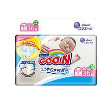 Подгузники GOO.N для новорожденных до 5 кг (размер SS, на липучках, унисекс, 36 шт) 853888