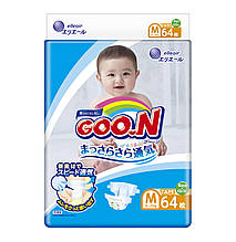 Подгузники GOO.N для детей 6-11 кг (размер M, на липучках, унисекс, 64 шт) 843154