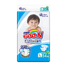 Подгузники GOO.N для детей 9-14 кг (размер L, на липучках, унисекс, 54 шт) 843155