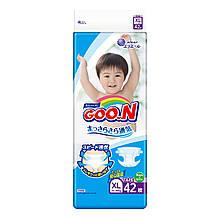 Подгузники GOO.N для детей 12-20 кг (размер Big (XL), на липучках, унисекс, 42 шт) 843132