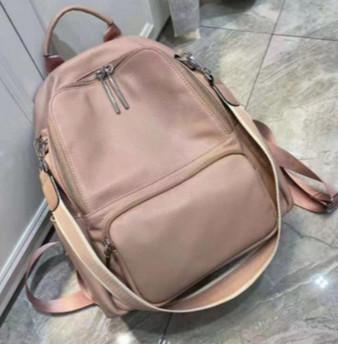 Рюкзак з широким ремінцем на плече / натуральна шкіра (2833) Рожевий