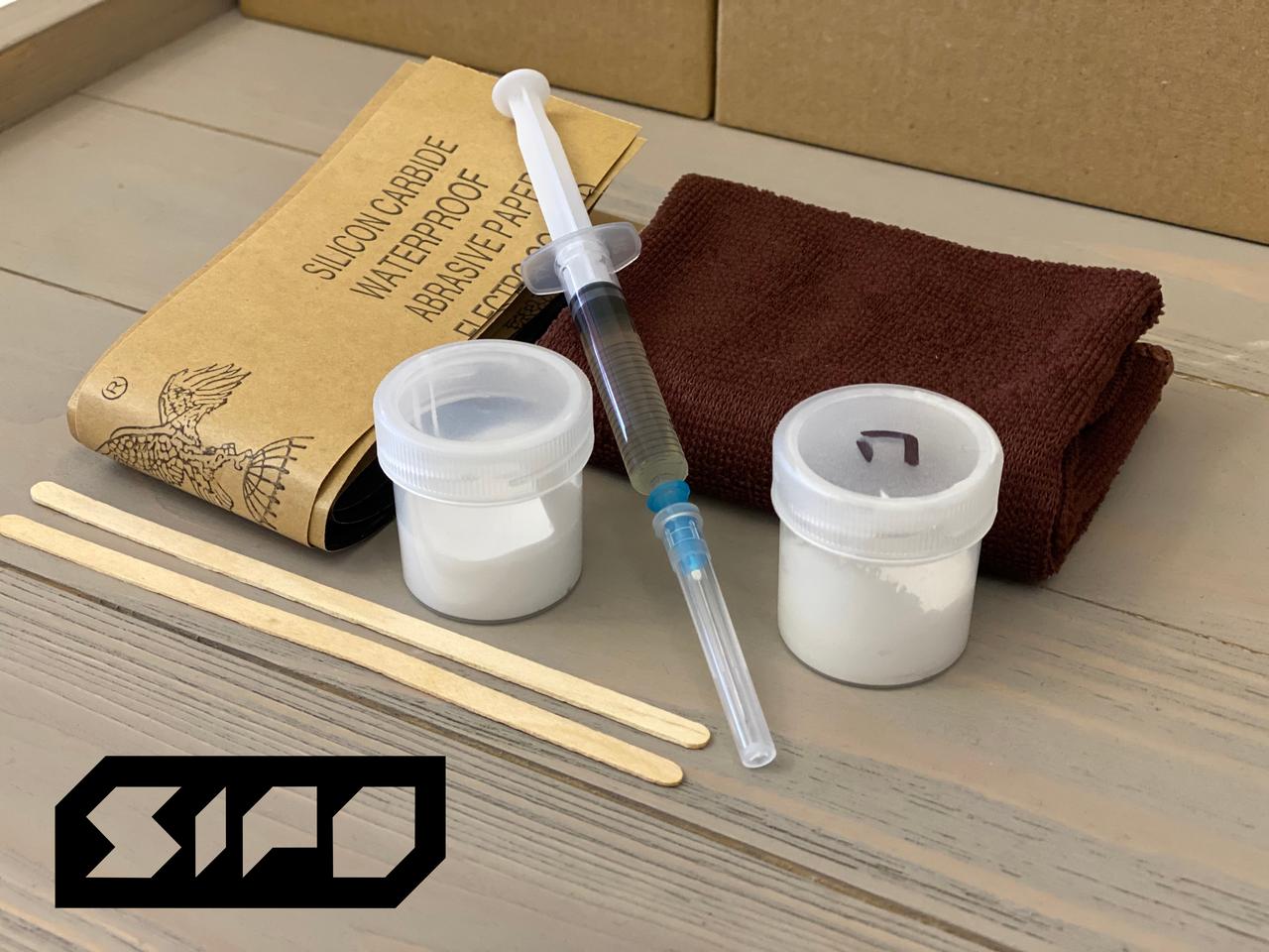 Ремкомплект для ванн Sipo - для ремонта царапин, сколов и трещин 7trav